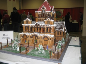 I guess this is in a Romanesque style. Like the tower and the chocolate roof.