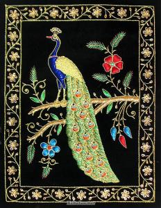 This one seems quite flashy with embroidery and silk. But I adore it nevertheless.