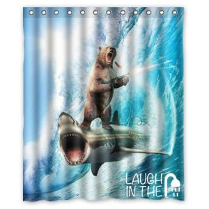 Helps that the bear is standing upright on a tidal wave with an assault rifle. This is hilarious.