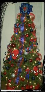 Still, I think this Spider Man Christmas tree is missing something. I know, cobwebs. Because he's a web slinger.