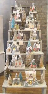Since it makes a colorful village display anyway. Doesn't hurt if you have funky colored Christmas trees.