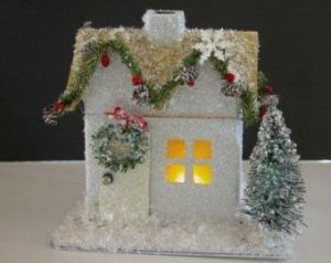 After all, add a garland and wreath and it's already in the Christmas spirit. Helps if there's a light from the window.