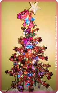 Well, I'm not familiar with Abby Cadabby. But I think this tree is adorable.