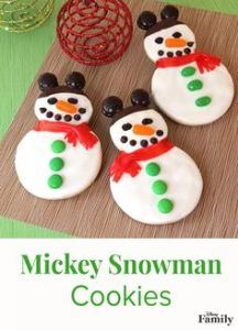They just look like regular snowmen but with Mickey Mouse ears. Though I like them better than Mickey cookies.