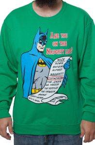 And you thought I was talking about Santa. Well, Batman has his own naughty list.