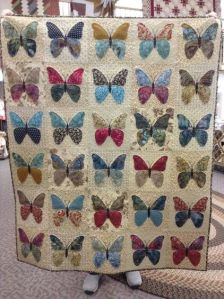 After all, this quilt features butterflies in so many colors. None of which you'd find in real life.