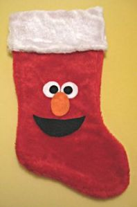 Well, this is just a stocking that has Elmo's face on it. Seems easy to make.
