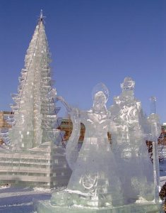 Though they kind of look Russian to me. Love the ice tree though.