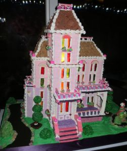 This one even has some Christmas decoration to it. Still, if it was black, it would be a haunted house.