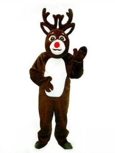 Now this is a cute costume. However, at these events, it's said that Rudolph's red nose makes him the designated driver.