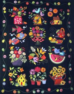 Well, this one has a lot of summer motifs. Love the flower bouquet.