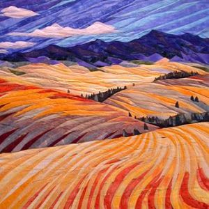 Yes, this is another quilting landscape. But this one makes it more apparent if you look at the sky.