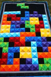Okay, Tetris is a computer game. But you can easily see why it makes an ideal quilting subject.