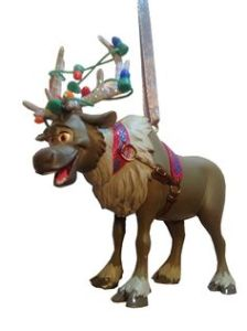 He even has his antlers in Christmas lights. Hope it doesn't keep him from hauling ice.