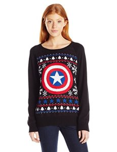 This one is black with red, white, and blue. And it features Cap's shield in the center.