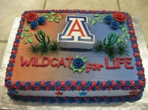 This one even has plastic desert decorations on it. Perfect for those desert Wildcat fans.