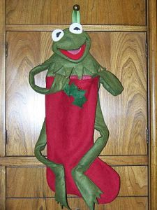 As we know, this red stocking doesn't need much green if it has Kermit. Since he already takes care of that.