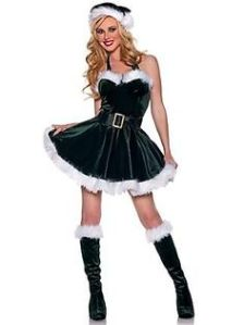 Yes, they have those Santa dresses in green as well. Still, like how it goes with green fur trimmed boots.