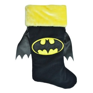 Because it just wouldn't be a Batman stocking without it. Same goes for the gold fuzzy top.