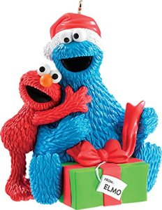 Hope Elmo gave him an assortment of Christmas cookies. Because we all know what Cookie Monster appreciates.
