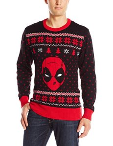 This one has Deadpool's face at the center. But it's in black and red as he'd prefer it.