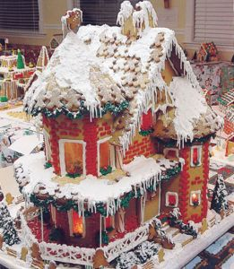 Not sure what to think about that. Then again, the gingerbread men are small enough to be roof tiles.