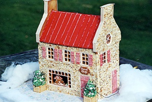After all, gingerbread houses are pastries that are decorated with candy. Well, inedible candy that is.