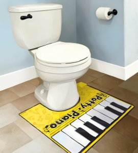 Want to play foot piano when you're on the pot? Now you can. Even includes a songbook.