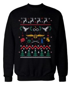 Yes, this is another ugly Harry Potter holiday sweater. Yet, this is the most Christmasy one so far.