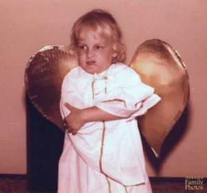 Hey, even little angels can have the occasional bad attitude sometimes. They can't all be angelic all the time.