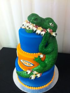 I guess this cake is from Florida University. Poor Seminole warrior didn't have the chance.