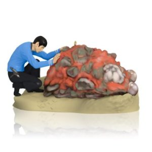Because nothing says Christmas by having to deal with the Horta creature that killed 50 miners on Janus VI. Spock must have his work cut out for him.