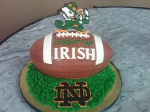 Though I'm sure the Irish might take offense with the Fightin' Irish mascot. Still, it fits.