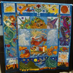 Though you may not find mermaids you'd find on this quilt. Because mermaids are only found in myths and fantasy.