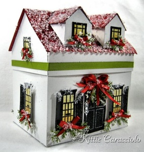 Even has green garland at the windows with red ribbons. Surely you can't deny this is a quality house for the holiday season.