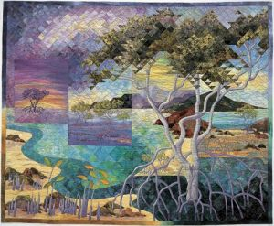 And this one uses plenty that it seems a bit surreal. But you can surely tell it's a quilt for sure.