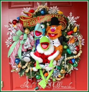 This one has Kermit with Fozzie and Gonzo. Also includes Christmas lights and baubles.