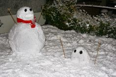Well, perhaps snowmen know what it feels to be snowed in. Like how one waves his stick arms in panic.