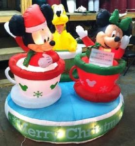 Of course, teacups rides are iconic to Disney> So it's why I included this inflatable on this post.
