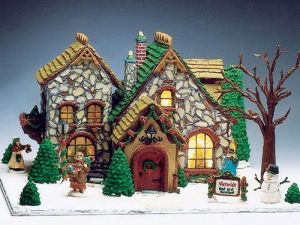 Almost thought this was a Christmas village set, but it's from Good Housekeeping. The stonework is unreal.