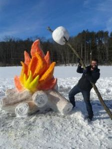 Okay, it would probably not go anywhere. But still, a snow fire is quite awesome.