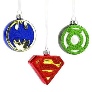 These include Batman, Superman, and Green Lantern. And they're all made from a glassy metal.