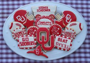You may also have to deal with constant references to the musical Oklahoma. But at least these Sooner cookies look delightful.