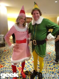 Yes, they the pink Jovie costume from the Elf movie, too. And yes, it does look quite cute.