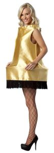 I showed a DIY leg lamp costume from last year's post. Yet, this one comes up further from the waist.