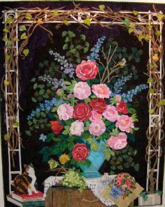 This one even has a cat and an arch with vines. But the roses are gorgeous.