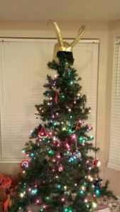 Okay, Loki is actually an adversary of the Avengers. But you have to admit, it does look great on the tree.