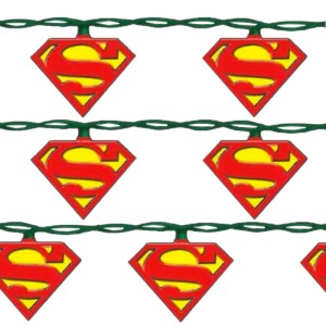 These lights all have the Superman symbol on them. And they'll make your tree super bright.