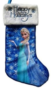 There's also an Olaf stocking. But since Elsa is way more popular, it goes on the post instead.