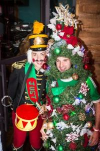 Not sure what to think about the Christmas tree costume in this. Yet, at least he made an effort you should appreciate.